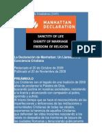 La Declaración de Manhattan - 2009.docx