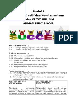 Modul 2 Produk Kreatif Dan Kewirausahaan Docx