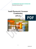Saudi Pharmacist Licensure Examination Blueprint