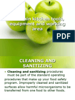 maintaining Kitchen tools