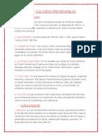 Principales Culturas Peruanas