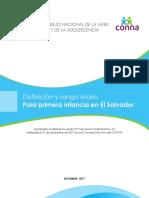 Definición y Rango Etareo Para Primera Infancia en El Salvador