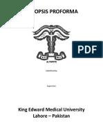 Synopsis Research Grant Proforma Format KEMU