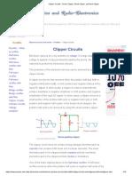 Clipper Circuits - Series Clipper, Shunt Clipper, And Dual Clipper