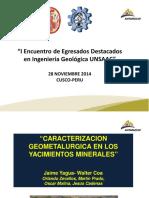 Caracterizacion geometalurgica en yacimientos minerales.pdf