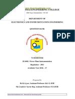 EI6002 Power Plant Instrumentation question bank