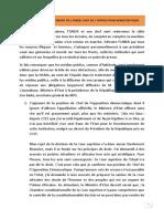 Declaration Du President de l'Undr Et Cod