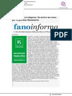 Piccole micro imprese, in arrivo un corso per la gestione finanziaria - Fanoinforma.it, 17 aprile 2019
