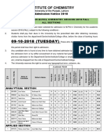 1st Merit List M.phil Chemistry 2018 FALL