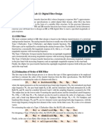 DSP LAB of Filter