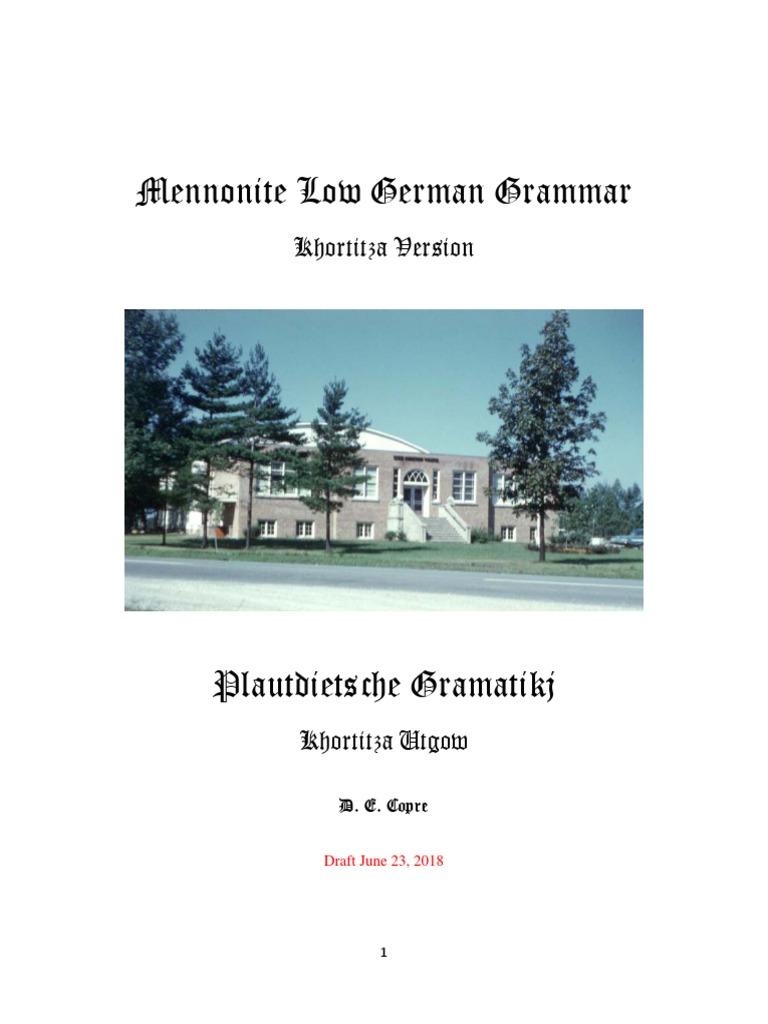 Plattdeutsch grammar  English version | Grammatical Gender
