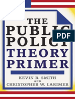 The Public Policy Theory Primer