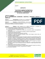 Acta No. 4 Estatutos Union Patriotica