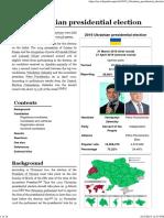 2019 Ukrainian Presidential Election