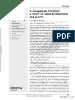 5-Lipoxygenase Inhibitors a Review of Recent Developmentsand Patents