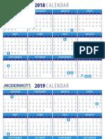 2018 & 2019 U.S. McDermott Calendar