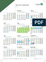 2019 Operational Calendar En