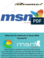 What Are the Methods To Reset MSN Password?