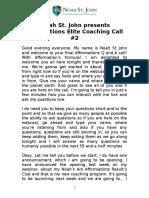 Noah St John Afformations Elite Coaching Call 2