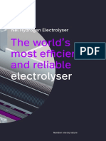 The World most efficient and reliable electrolyser
