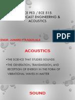 ECEPE3 - Lesson 1 Acoustics