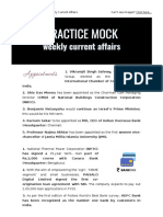 PracticeMock 2nd Week April Current Affairs