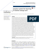 An Integrated Practice System for Learning Programming in Python -- Design and Evaluation