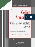 Código Arancelario comentado y anotado. Ley 9459. Adan Luis Ferrer.pdf