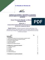 INFOTEP-Curso Formación Basada en Normas de Competencias