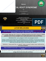 Laporan kasus Cervical root syndrome (CRS)