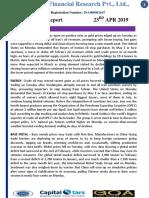 MCX DAILY REPORT 23 APR 2019