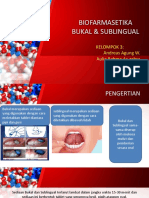 Biofarmasetika Bukal & Sublingual