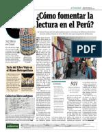 ¿Cómo Fomentar La Lectura en El Perú?