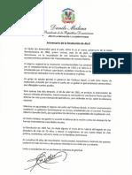 Mensaje del presidente Danilo Medina en ocasión del 54 aniversario de la Revolución de Abril de 1965