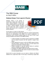 Database Design - From Logical to Physical