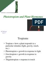 Phototropisms Hormones