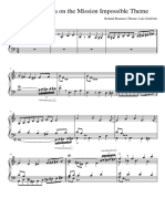4-Part Fughetta on the Theme From Mission Impossible