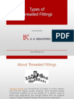 Types of Threaded Fittings
