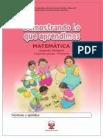 Kit de Evaluación Entrada 1 Demostrando Lo Que Aprendimos Matemática, Segundo Trimestre, _Segundo Grado - Primaria