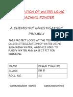 STERILIZATION OF WATER USING BLEACHING POWDER.docx