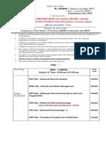 KBC NMU Time Table M. Pharmcy (PCI) May 2019
