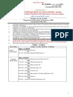 KBC NMU Time Table M. Pharmacy (CGPA) May 2019