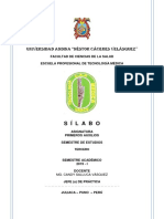 Silabo 2019 - Primeros Auxilios