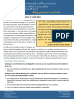 Massachusetts Auditor Report of Foster Student Municipal Impact Study One-Pager