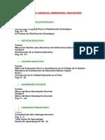 Fuentes Variables, DImensiones, Indicadores
