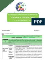 Matriz Competencias capacidades y desempeños de Ciencia y Tecnología 1°de secundaria.docx