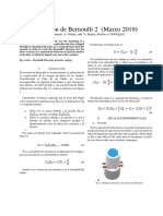 Ecuación de Bernoulli 2