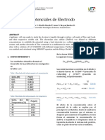 Informe Potencial de Electrodo