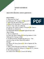 Best Literature MCQs notes.