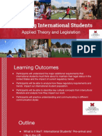 supporting international students  applied theory and legislation